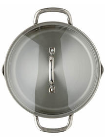 Thomas Rosenthal Cook & Pour Casserole Pot with Glass Lid, 24cm, 4.7 Litre, Stainless Steel Thumbnail 2