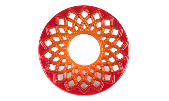 Berndes Cast Iron Trivet, 20cm, Orange