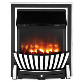 Beldray EH2351 Almada Premium Inset and Free Standing Electric Fire, 2000 W, Chrome