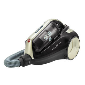 Hoover RU80VE15001 Velocity Bagless Cylinder Vacuum Cleaner, 2 Litre, Black and Champagne