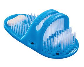 JML Shower Feet VB19093 Foot Exfoliator Scrubber with Built-In Pumice Stone Heel, Blue