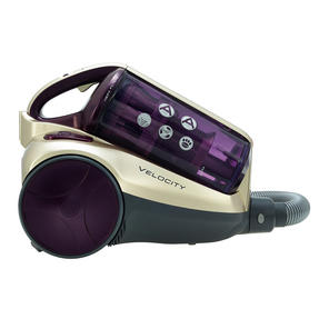Hoover RE71VE20001 Velocity Bagless Cylinder Vacuum Cleaner, 2.5 Litre, 700 W, Purple and Champagne Thumbnail 2