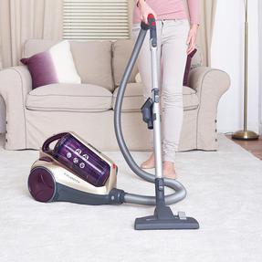 Hoover RE71VE20001 Velocity Bagless Cylinder Vacuum Cleaner, 2.5 Litre, 700 W, Purple and Champagne Thumbnail 3