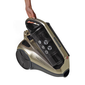 Hoover RE71VE25001 Velocity Bagless Cylinder Vacuum Cleaner, 2.5 Litre, 700 W, Black and Champagne Thumbnail 6