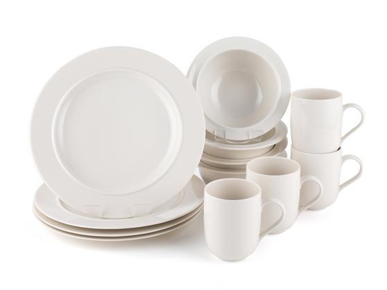 Alessi La Bella Tavola Porcelain 4-Place Setting Dining Set