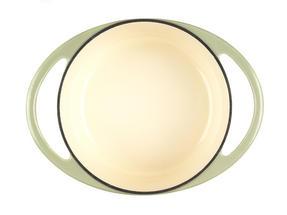 Berndes Round Casserole Dish with Lid, 20cm, 2.4 Litre, Cast Iron, Green Thumbnail 5