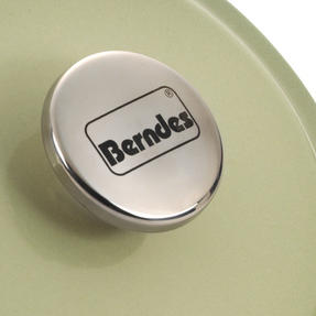 Berndes Round Casserole Dish with Lid, 20cm, 2.4 Litre, Cast Iron, Green Thumbnail 7