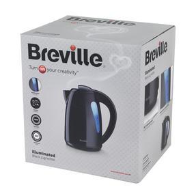 Breville Black 1.5 Litre Plastic Jug Kettle and Red 2 Slice Toaster Set Thumbnail 8