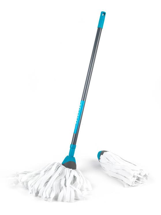 Beldray LA027054 Telescopic Cloth Mop with Cloth Mop Refill Pack