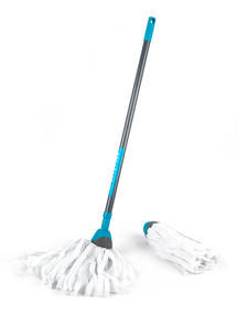 Beldray LA027054 Telescopic Cloth Mop with Cloth Mop Refill Pack