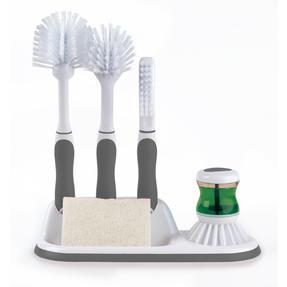 Beldray LA030979 4 Piece Kitchen Scrubbing Brush Set Grey Thumbnail 1