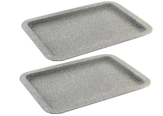 Salter Everest 38cm Grey Marble Coated Baking Tray x 2