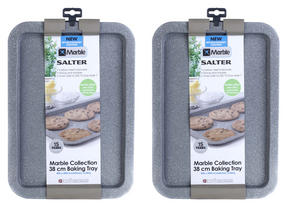 Salter Everest 38cm Grey Marble Coated Baking Tray x 2 Thumbnail 2