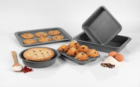 Salter Marble Collection 5-Piece Baking Set, Grey Thumbnail 7