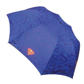 DC Comics Superman Unisex Golf Umbrella Automatic Folding Brolly, Blue