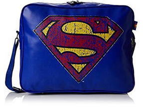 BB Designs Unisex Superman Classic Messenger Bag, Blue Thumbnail 1