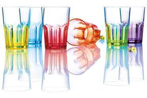 Luminarc AH8221 Crazy Colours Tumblers Glasses, 40 cl, Set of 6