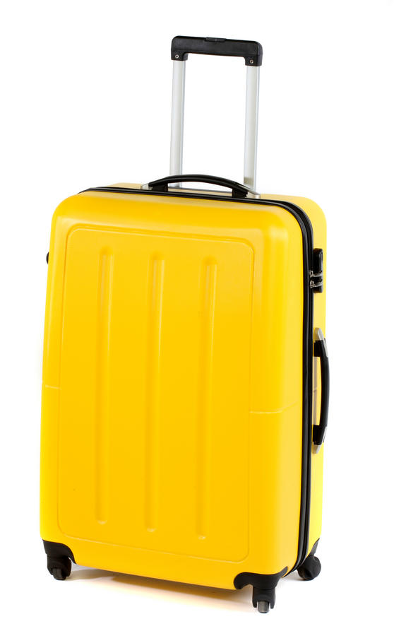 "Constellation Galloway ABS Suitcase, 28"", Yellow"
