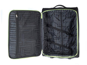 "Constellation Superlite Suitcase, 24"", Black/Green Thumbnail 5"