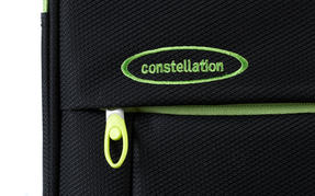 "Constellation Superlite Suitcase, 24"", Black/Green Thumbnail 6"