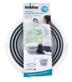 Beldray LA028495GRY Grey 10 Litre Collapsible Bucket Thumbnail 6