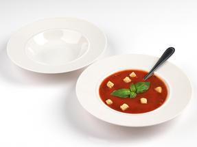 Alessi 1110302 La Bella Tavola Porcelain Soup, Salad, Dessert Bowls, 23cm, Set of 2 Thumbnail 2