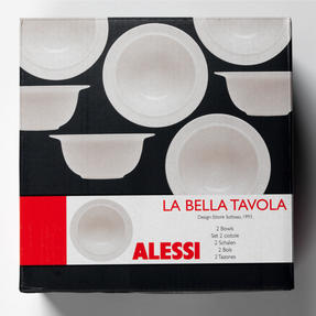 Alessi 1110302 La Bella Tavola Porcelain Soup, Salad, Dessert Bowls, 23cm, Set of 2 Thumbnail 4