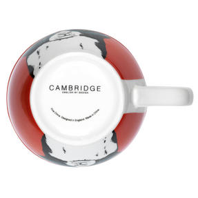Cambridge CM05491 Oxford Cat In Glasses Fine Bone China Mug , Red Thumbnail 2