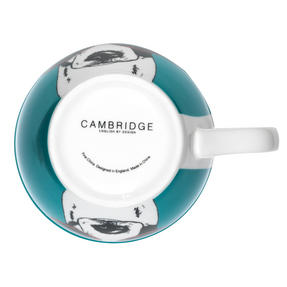 Cambridge CM05492 Oxford Dog In Glasses Fine Bone China Mug , Teal Thumbnail 2