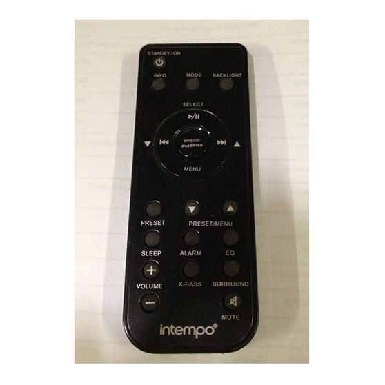 Remote Control For Intempo Rdi-02