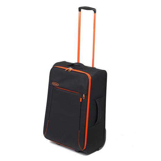 "Constellation Superlite Suitcase, 24"", Black/Orange"