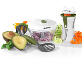 Salter 3 Piece Healthy Preparation Starter Set, Green/White