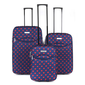 Constellation Eva 3 Piece Suitcase Set, 18/24/28?, Heart Print, Navy Thumbnail 1