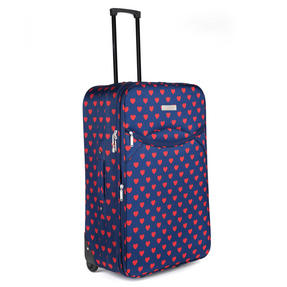 Constellation Eva 3 Piece Suitcase Set, 18/24/28?, Heart Print, Navy Thumbnail 3
