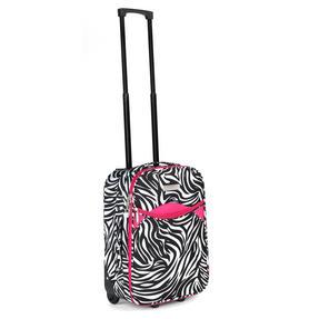 "Constellation Eva 3 Piece Suitcase Set, 18"", 24"" & 28"", Zebra Print, Pink Thumbnail 5"