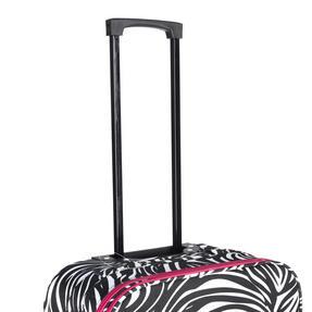 "Constellation Eva 3 Piece Suitcase Set, 18"", 24"" & 28"", Zebra Print, Pink Thumbnail 7"