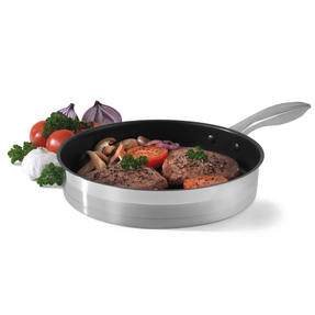 Salter Timeless Collection Stainless Steel Frying Pan, 24 cm