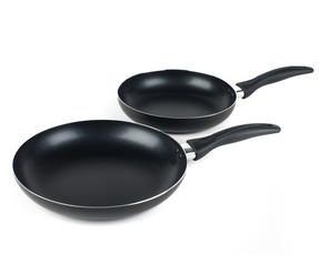 Salter Non-Stick Frying Pan Set, 24/28 cm, Black