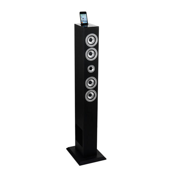 Intempo Wooden Tower Speaker With Bluetooth Connectivity And Remote Control