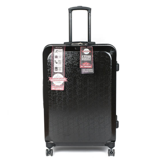 "Constellation Mosaic Effect ABS Hard Shell Suitcase, 28"", Black"