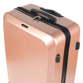 "Constellation Mosaic Effect ABS Hard Shell Suitcase, 28"", Rose Gold Thumbnail 8"