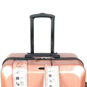 "Constellation Mosaic Effect ABS Hard Shell Large Suitcase, 28"", Rose Gold Thumbnail 7"