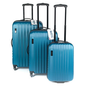 "Constellation Eclipse ABS Hard Shell Suitcase Set, 20"", 24"" & 28"", Blue Thumbnail 1"