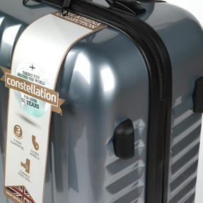 """Constellation Athena ABS Hard Shell Suitcase, 24"""", Silver Thumbnail 4"""