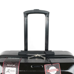 "Constellation Mosaic Effect ABS Hard Shell Small Cabin Approved Suitcase, 20"", Black Thumbnail 4"