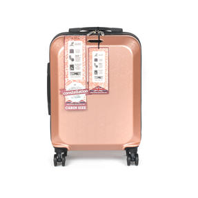"Constellation Mosaic Effect ABS Hard Shell Small Cabin Approved Suitcase, 20"", Rose Gold Thumbnail 2"