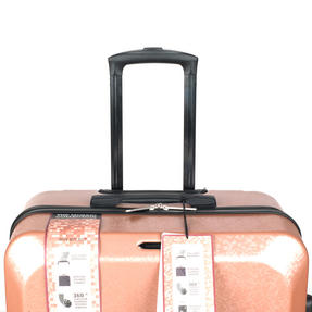 "Constellation Mosaic Effect ABS Hard Shell Small Cabin Approved Suitcase, 20"", Rose Gold Thumbnail 4"