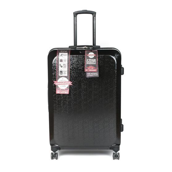"Constellation Mosaic Two Piece Suitcase Set, 20""/28"", Black"