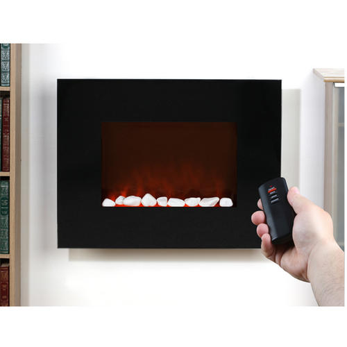 Inspire By Prolectrix, Roma - Small Black Glass Wall Electric Fire ...