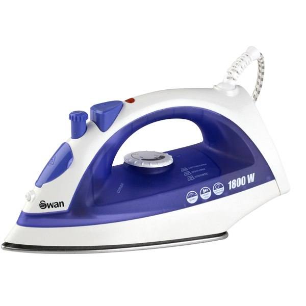 No Steam Iron ~ Swan w steam iron ironing sewing no brands you